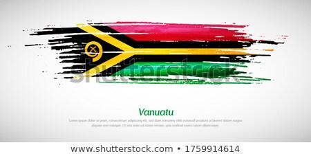 República Vanuatu bandeira secar terra terreno Foto stock © grafvision