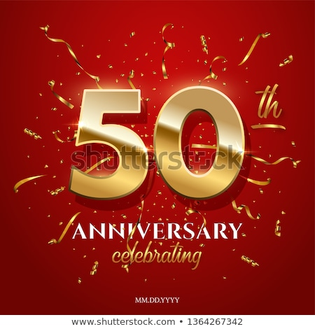 Fiftieth Anniversary Celebration Number Vector Stock photo © pikepicture