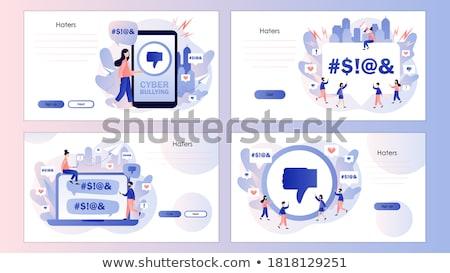 Internet trolling concept landing page. Stock photo © RAStudio