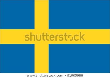 Svezia bandiera bianco grande set mondo Foto d'archivio © butenkow