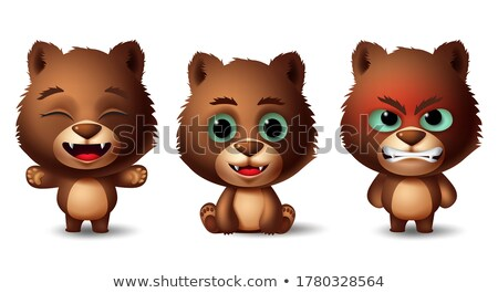 Group of grizzly bear in jungle Stock photo © bluering