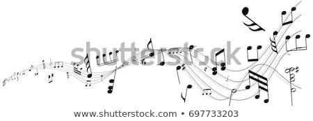 hangjegyek · billentyűzet · absztrakt · piros · zongora · kulcs - stock fotó © sarts