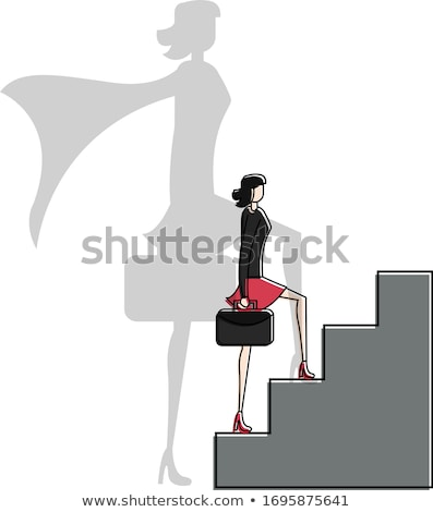 герой женщины костюмы портфель Сток-фото © robuart