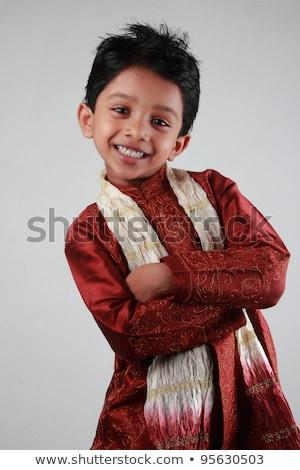Сток-фото: смеясь · Kid · вечеринка · носить