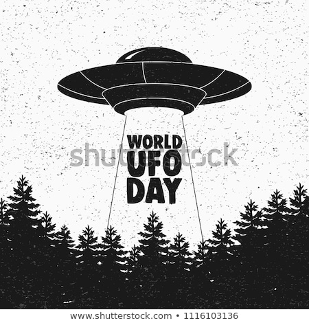 vintage ufo emblems Stock photo © netkov1