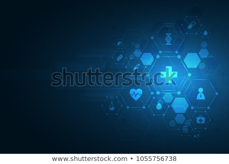 white medical and health care background with cardiogram line Stock photo © SArts