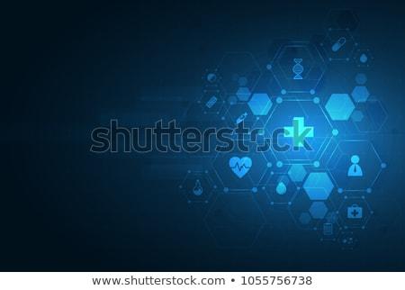 Witte medische gezondheidszorg kardiogram lijn hart Stockfoto © SArts