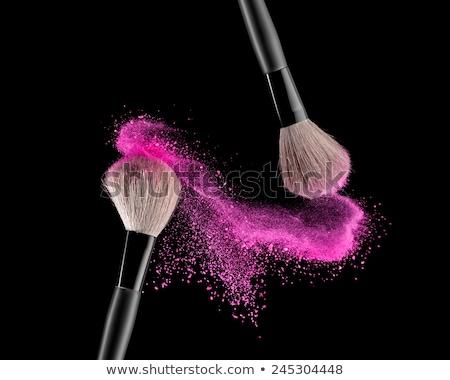 Szépség kozmetika sminkecset fekete szelektív fókusz természetes Stock fotó © serdechny