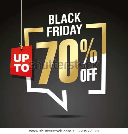 black friday big sale with 70 percent reduction stock photo © robuart