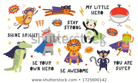 monkeys and apes animal characters cartoon set Stock photo © izakowski