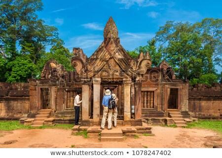 рельеф храма Ангкор Камбоджа войны поклонения Сток-фото © lichtmeister