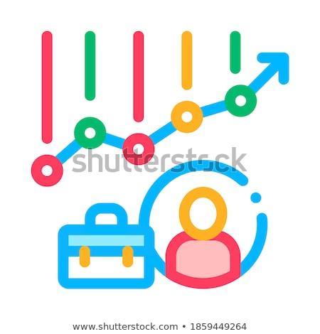 Grafikon diagram avatar tok álláskeresés vektor Stock fotó © pikepicture