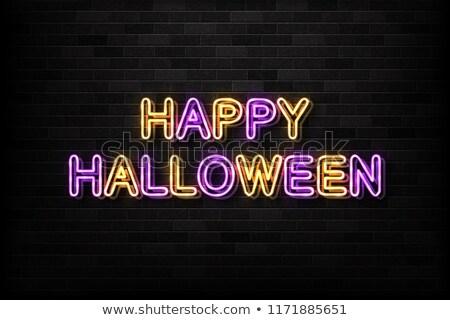 Cartoon · calabaza · naranja · color · halloween · tarjeta - foto stock © voysla