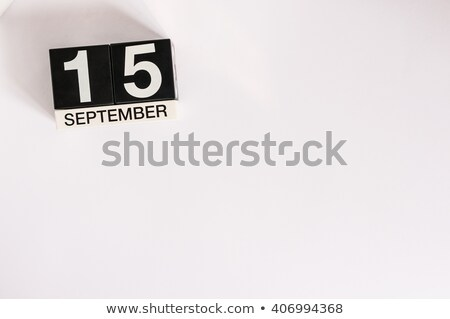 Cubes calendar 15th September Stock photo © Oakozhan