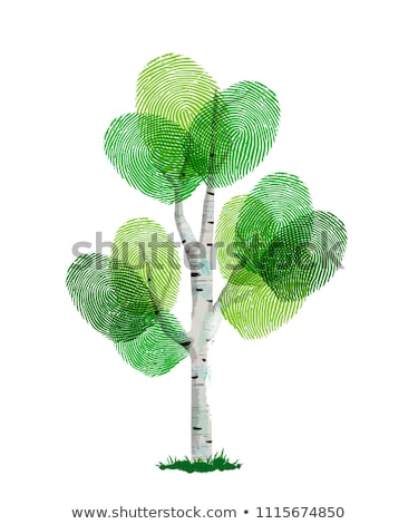 Nature fingerprint concept made of green leaves Stock photo © cienpies