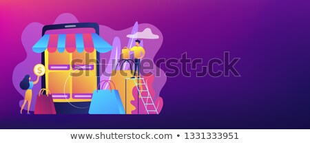 E-commerce marketplace vector concept metaphors Stock photo © RAStudio