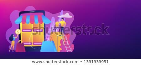 e commerce marketplace vector concept metaphors stock photo © rastudio