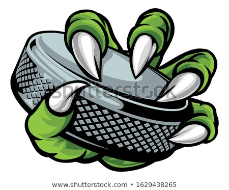 Eagle Ice Hockey Player Animal Sports Mascot Stock photo © Krisdog