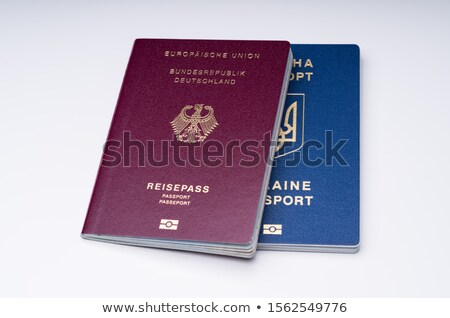 German And Ukrainian Passports Against White Surface Stock photo © AndreyPopov