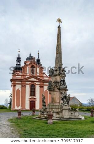 Templom szent Csehország épület piros építészet Stock fotó © borisb17