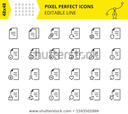 Files, Document Flow and Interaction With Them Stock photo © Pixel_hunter