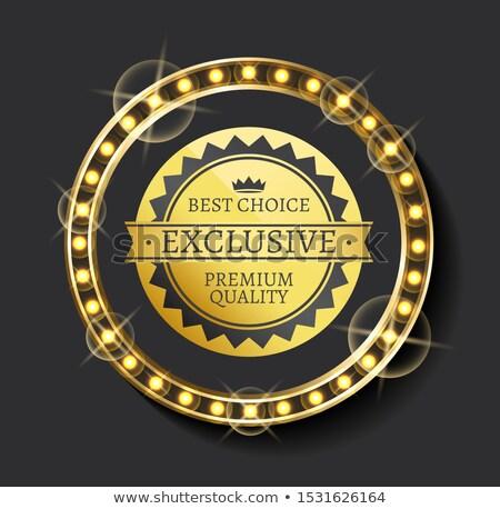 Exkluzív hirdetés legjobb választás prémium minőség vektor Stock fotó © robuart