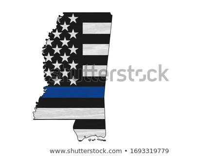 Mississippi policji wsparcia banderą ilustracja Zdjęcia stock © enterlinedesign