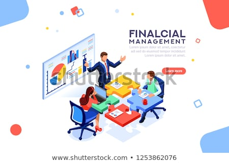 Workers Researching, Company Strategy, Top Vector Stock photo © robuart