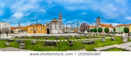 Romana columna Croacia cuadrados histórico centro Foto stock © borisb17