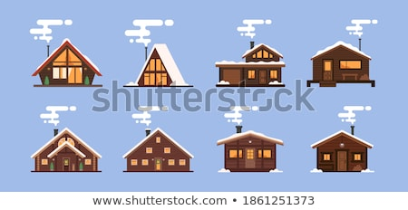 Snow-covered house in winter Stock photo © ensiferrum