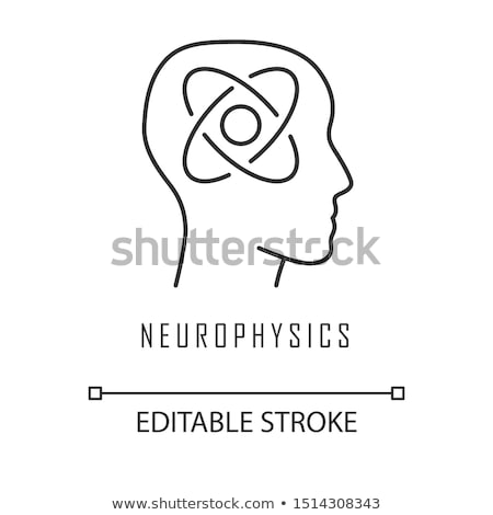 study of human functions icon vector outline illustration Stock photo © pikepicture