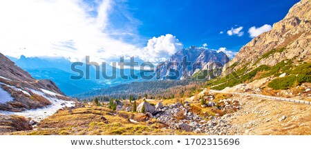 Passo Valparola high alpine pass panoramic view Stock photo © xbrchx