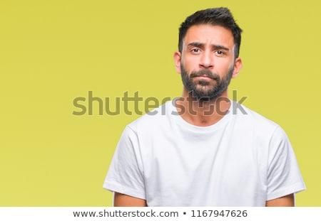 Felnőtt spanyol férfi izolált lehangolt aggodalom Stock fotó © benzoix