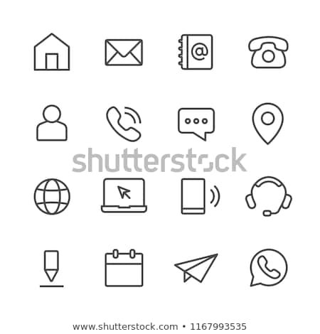 Contact us - line design style icons set Stock photo © Decorwithme