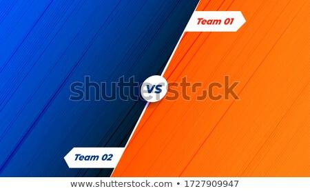 Concurrentie vs oranje Blauw schaduw voetbal Stockfoto © SArts