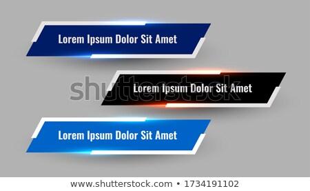 Drie meetkundig verlagen derde moderne Stockfoto © SArts