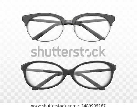 Elegáns peremszegély szemüveg fényes üveg fehér Stock fotó © evgeny89