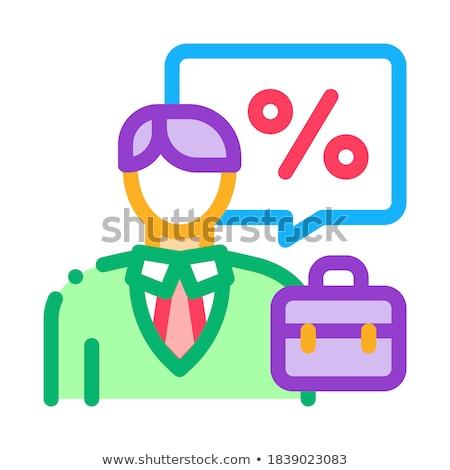 Corredor de bienes raíces beneficio icono vector ilustración Foto stock © pikepicture