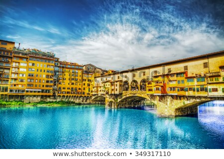 Florence - the Arno river seen from Ponte Vecchio Stock photo © wjarek