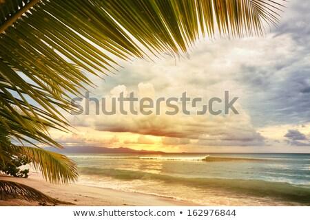 apus · vest · coastă · nori - imagine de stoc © photoblueice