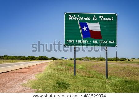 Austin Texas autópálya tábla zöld felhő utca Stock fotó © kbuntu