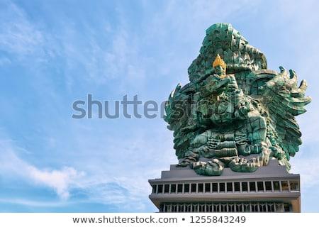 demon · opiekun · posąg · świątyni · dekoracji · Bangkok - zdjęcia stock © timbrk