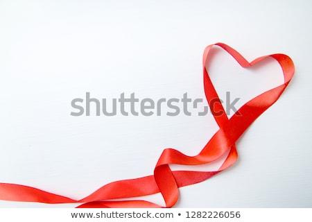 körvonal · piros · szívek · pasztell · Valentin · nap · üdvözlőlap - stock fotó © nurrka