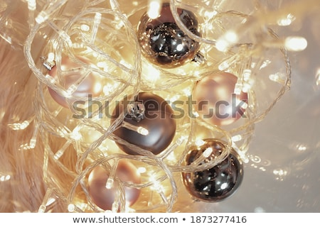 natal · ouro · arame · estrela · dourado · brilho - foto stock © lunamarina