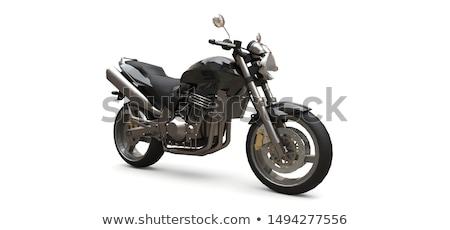 the motorcycle on a white background stock photo © njaj