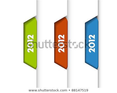 Vector 2012 Labels / Tabs Stock photo © orson