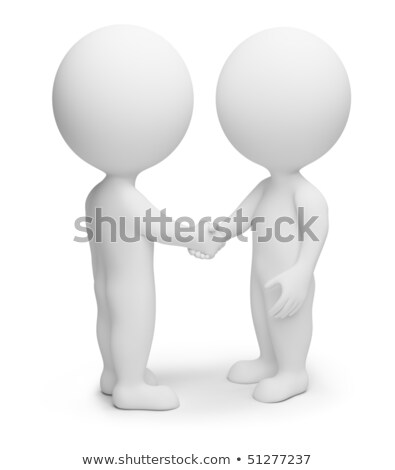 Stock photo: 3d small people - handshake