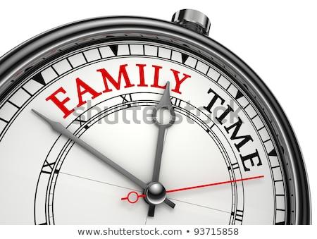 Семейное время - Часы Сток-фото © donskarpo