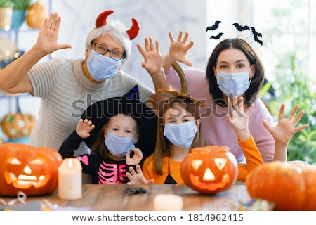 Kids preparing pumpkins for Halloween Stock photo © photography33