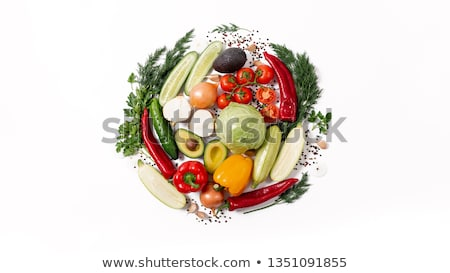 circle from vegetables and fruit stock photo © adamson
